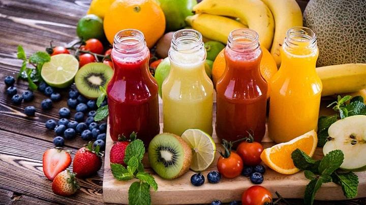 Sinh tố trái cây là món được khuyên nên bổ sung trước khi tập thể hình