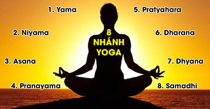 8 nhánh của Ashtanga Yoga có ý nghĩa và tác dụng riêng
