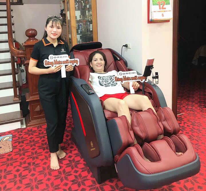 Trải nghiệm ghế massage Oreni: uy tín, đẳng cấp, chuyên gia sức khỏe của bạn