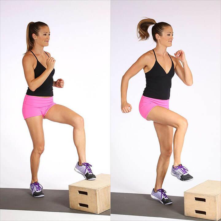 Bài tập Box Toe Touches hỗ trợ giảm cân