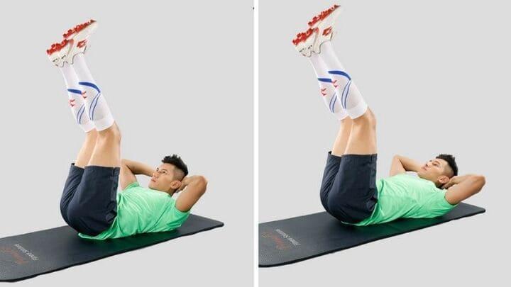 Vertical Leg Crunches tác động lên toàn vùng bụng và vùng xương hông của bạn