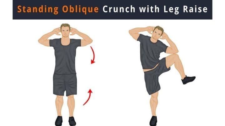 Standing Side Crunch đúng cách