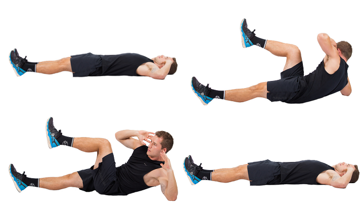 Side Crunches giúp bạn giảm được mỡ vùng bụng đồng thời làm săn chắc cho đôi chân