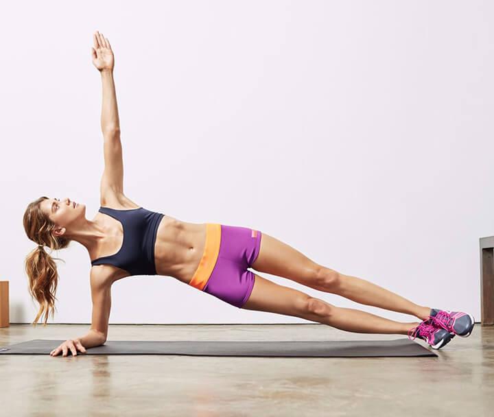 Cơ bụng săn chắc hơn nhờ bài tập Plank biến thể