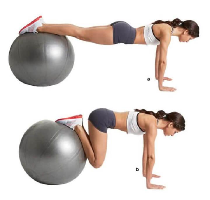 Sử dụng bóng tập hỗ trợ đánh tan mỡ bụng