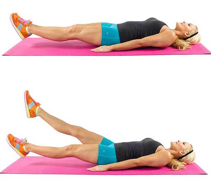 Bài tập đá chân cắt chéo giúp tiêu hao mỡ bụng dưới