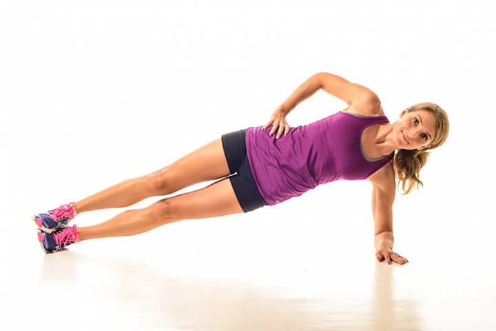 Bài tập Plank nghiêng hỗ trợ tiêu hao mỡ bụng