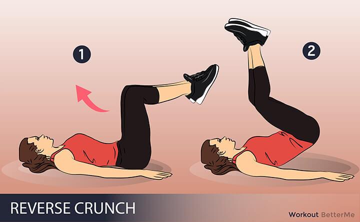 Bài tập gập bụng ngược phù hợp cho nam nữ giảm mỡ bụng dưới