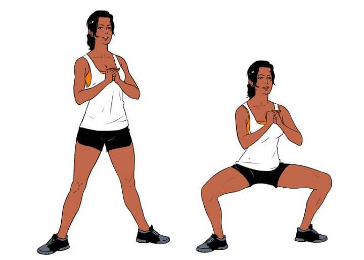 Tập Sumo Squat phát triển cơ mông và đốt cháy mỡ thừa hiệu quả