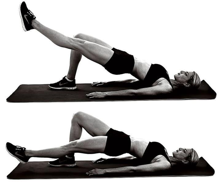 Cách tập bài giảm mỡ bụng Glute Hamstring Leg Lifts