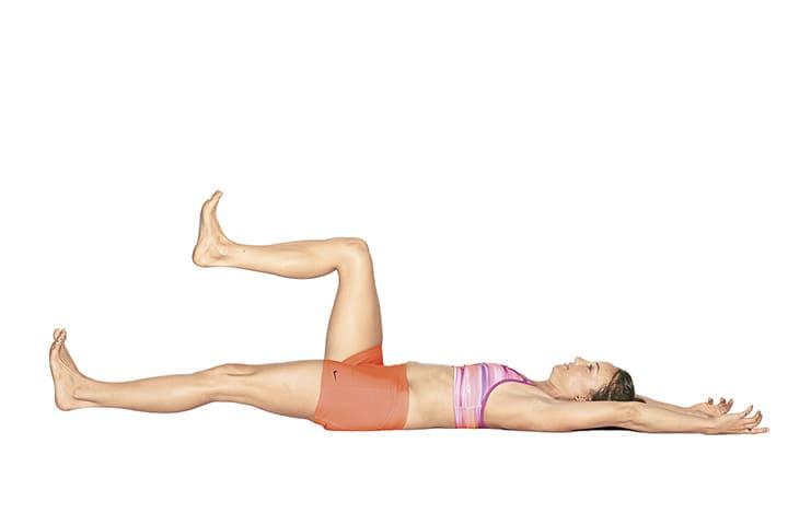 Bài tập nâng chân Supine Leg Marches