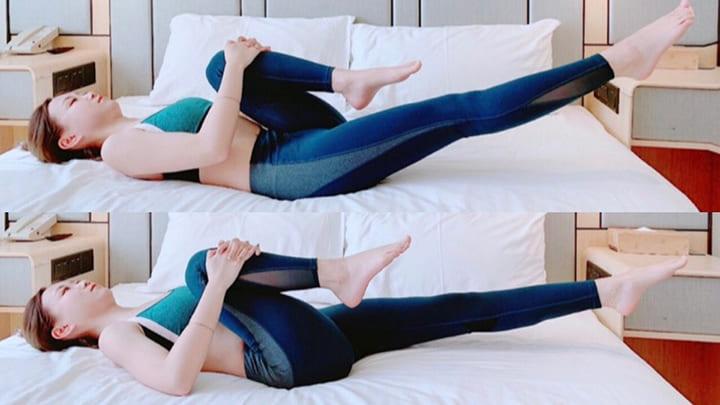 Bài tập chân co duỗi chân giúp giảm mỡ bụng hiệu quả