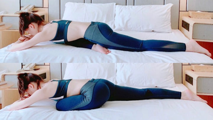 Bài tập gập chân nằm sấp giảm mỡ bụng