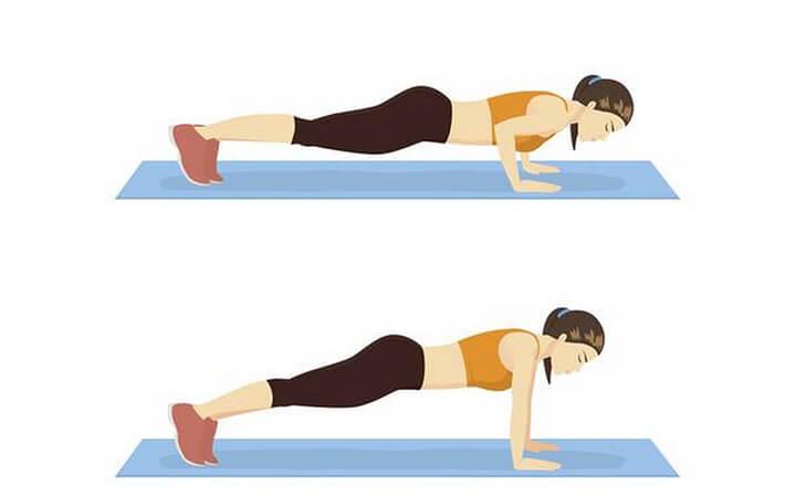 Hít đất là bài tập giúp các nhóm cơ ngực phát triển hiệu quả