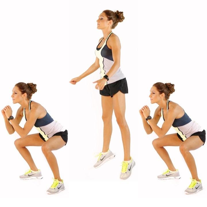 Nhảy Squat thấp tác động lên toàn bộ vùng mông và đùi