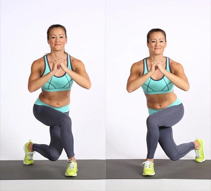 Side to Curtsy Lunge giúp phát triển cơ bắp