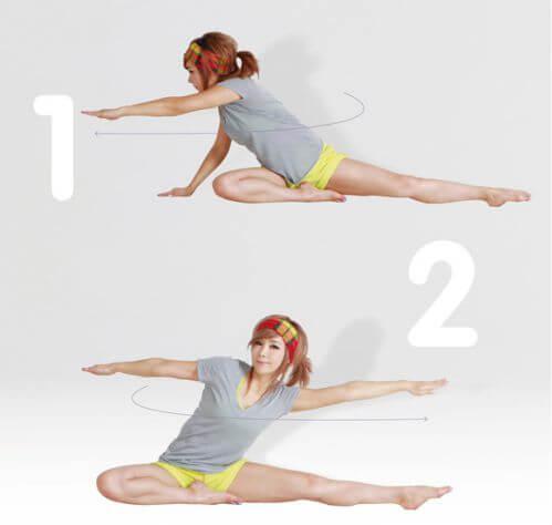 Động tác này không chỉ giúp bạn giảm đau lưng mà còn giúp giảm mỡ ở eo