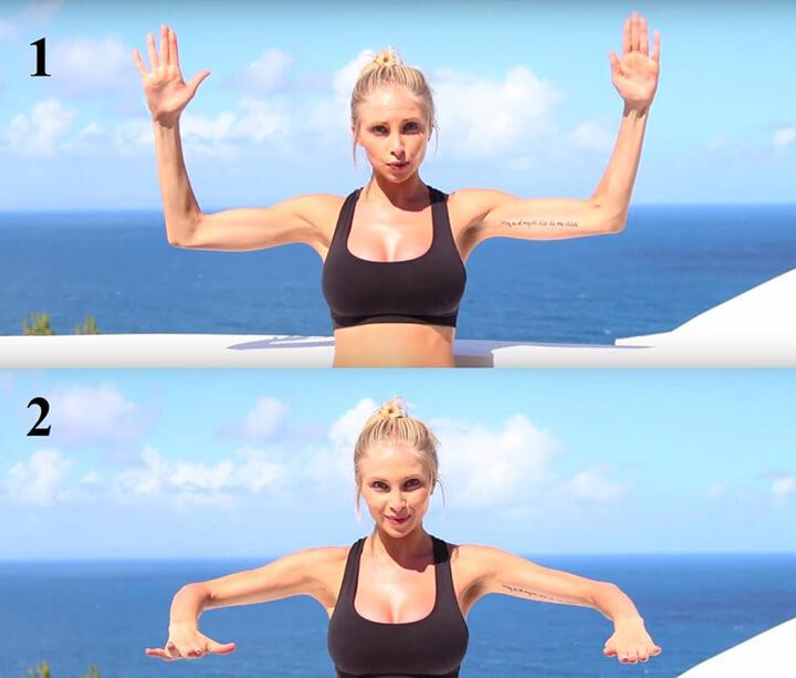 Bài tập tay vuông góc giúp giảm mỡ bắp tay nhanh chóng