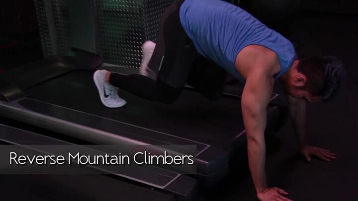 Reverse Mountain Climbers - Bài tập đơn giản với máy chạy bộ