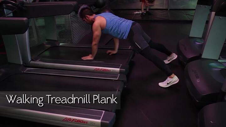 Luyện tập tại nhà hiệu quả trên máy chạy bộ với bài tập Walking Treadmill Plank