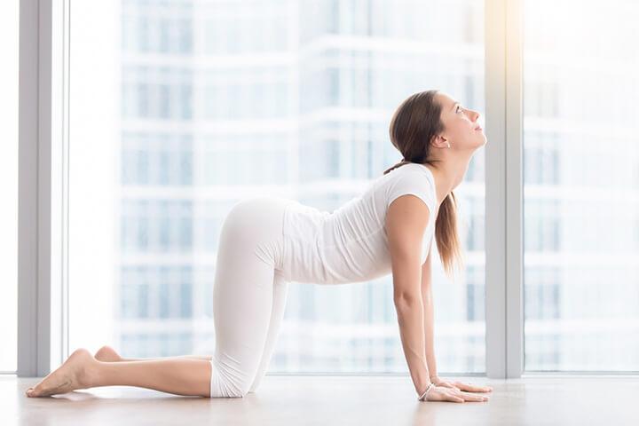 Tư thế Yoga con mèo hỗ trợ giảm mỡ bụng cực tốt
