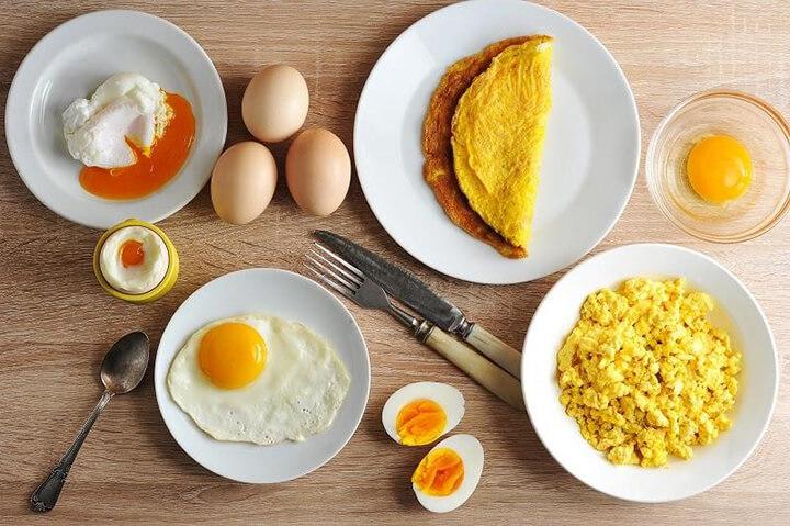 Bữa sáng cho người giảm cân sẽ rất tốt nếu có trứng gà.