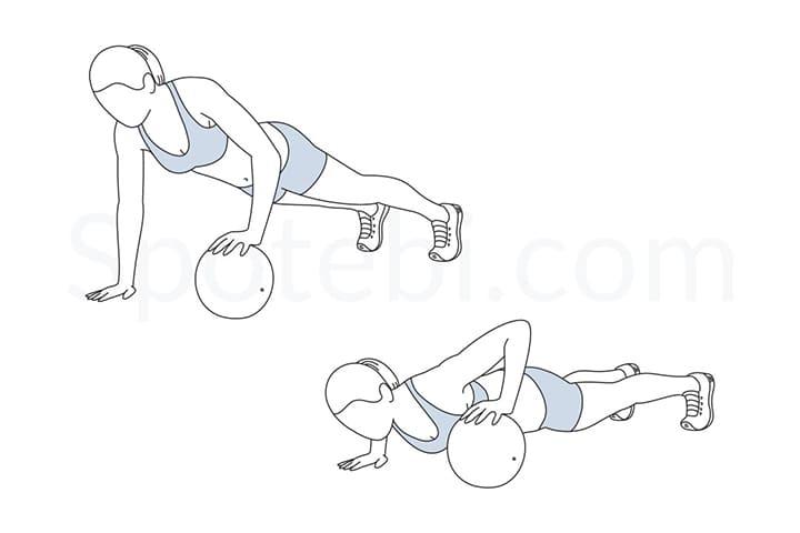 Một biến thể khác nhưng khó hơn là bạn chống tay không chạm bóng lên mông