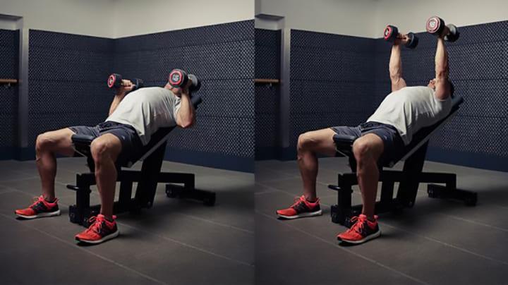 Bài tập ngực Dumbbell Bench Press sử dụng tạ đơn 2 tay để thực hiện