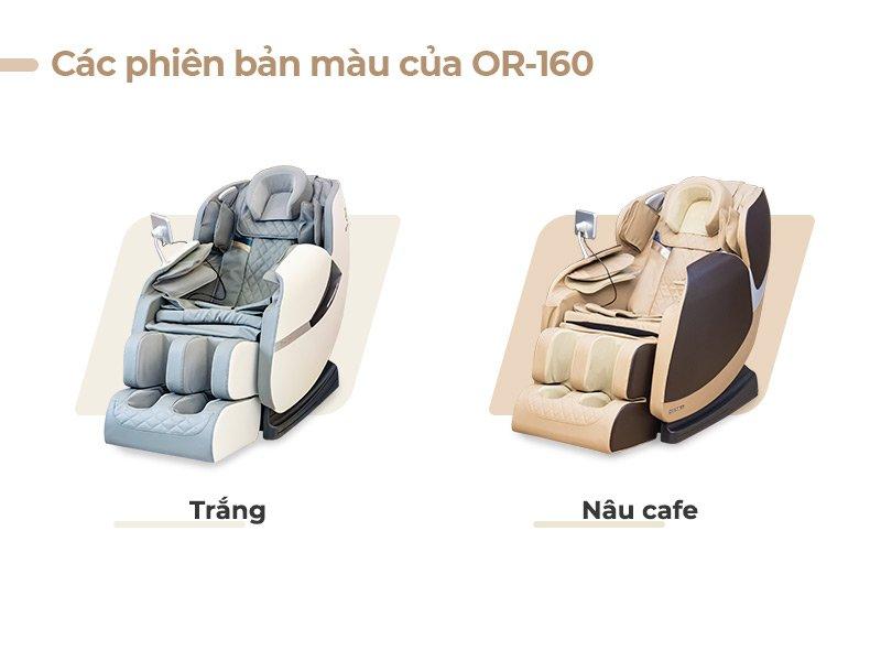 Các phiên bản màu chủa ghế massage Oreni OR-160