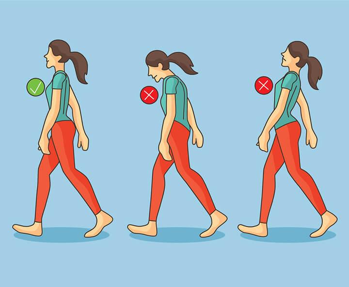 """Tư thế đi bộ đúng """"chuẩn"""" để chân thon gọn"""