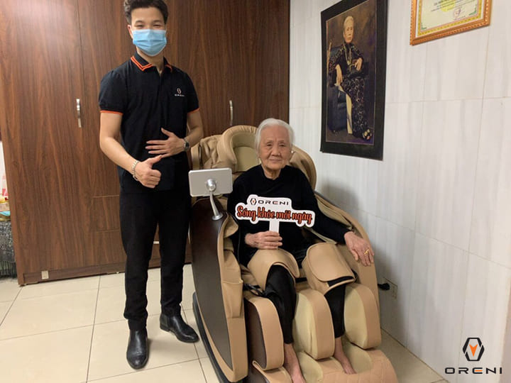 Ghế massage Oreni hỗ trợ giảm đau lưng ngay tại nhà