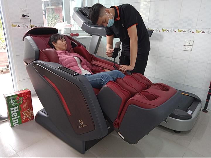 Không thay đổi tư thế massage khi đang sử dụng