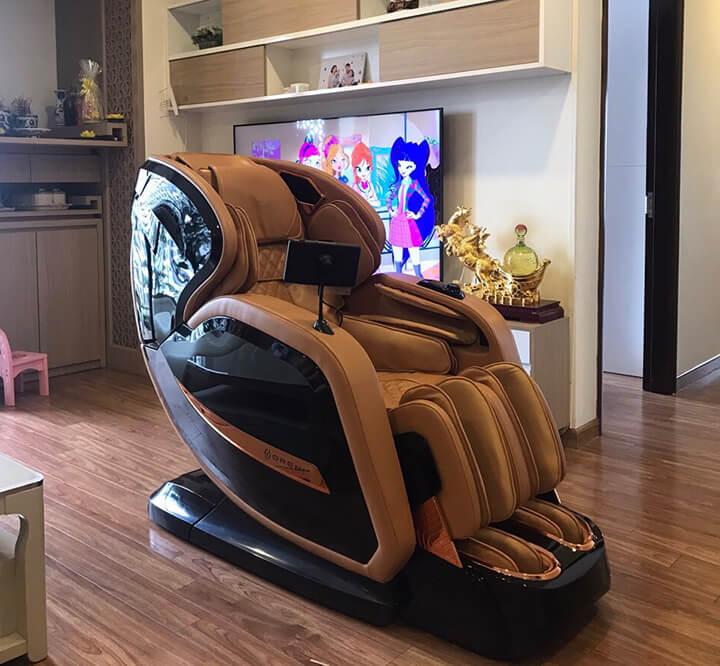 Khi không dùng cần ngắt nguồn điện, để ghế massage nơi khô thoáng