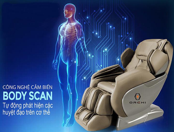 Ghế massage có tính năng quét cơ thể, định vị hình dáng cột sống lưng