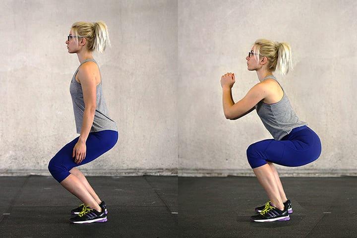 Squat là bài tập cardio được nữ giới yêu thích