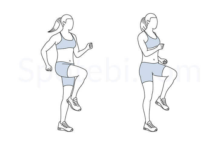 Tư thế chạy bộ tại chỗ đúng chuẩn giúp nâng cao hiệu quả tập luyện