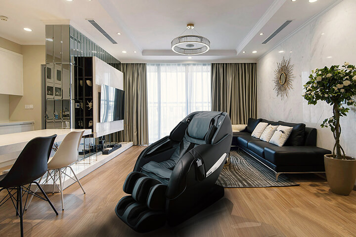Ghế massage có thể tận dụng làm đồ nội thất cho phòng khách của bạn