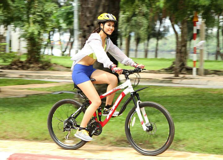 Đạp xe có to bắp chân không là điều nhiều chị em quan tâm