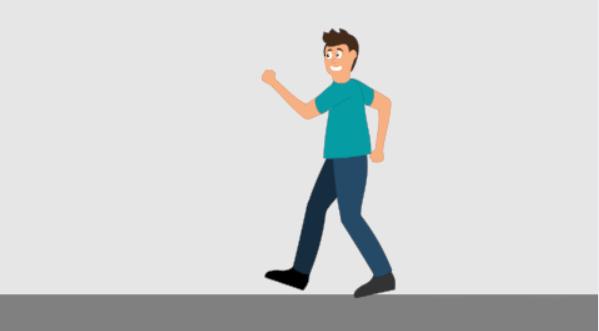 đi bộ giơ cao tay giảm mỡ bụng