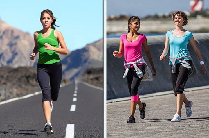 chạy bộ hay đi bộ giảm cân nhanh hơn