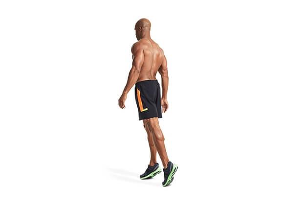 đi bộ kiễng chân giảm mỡ bụng