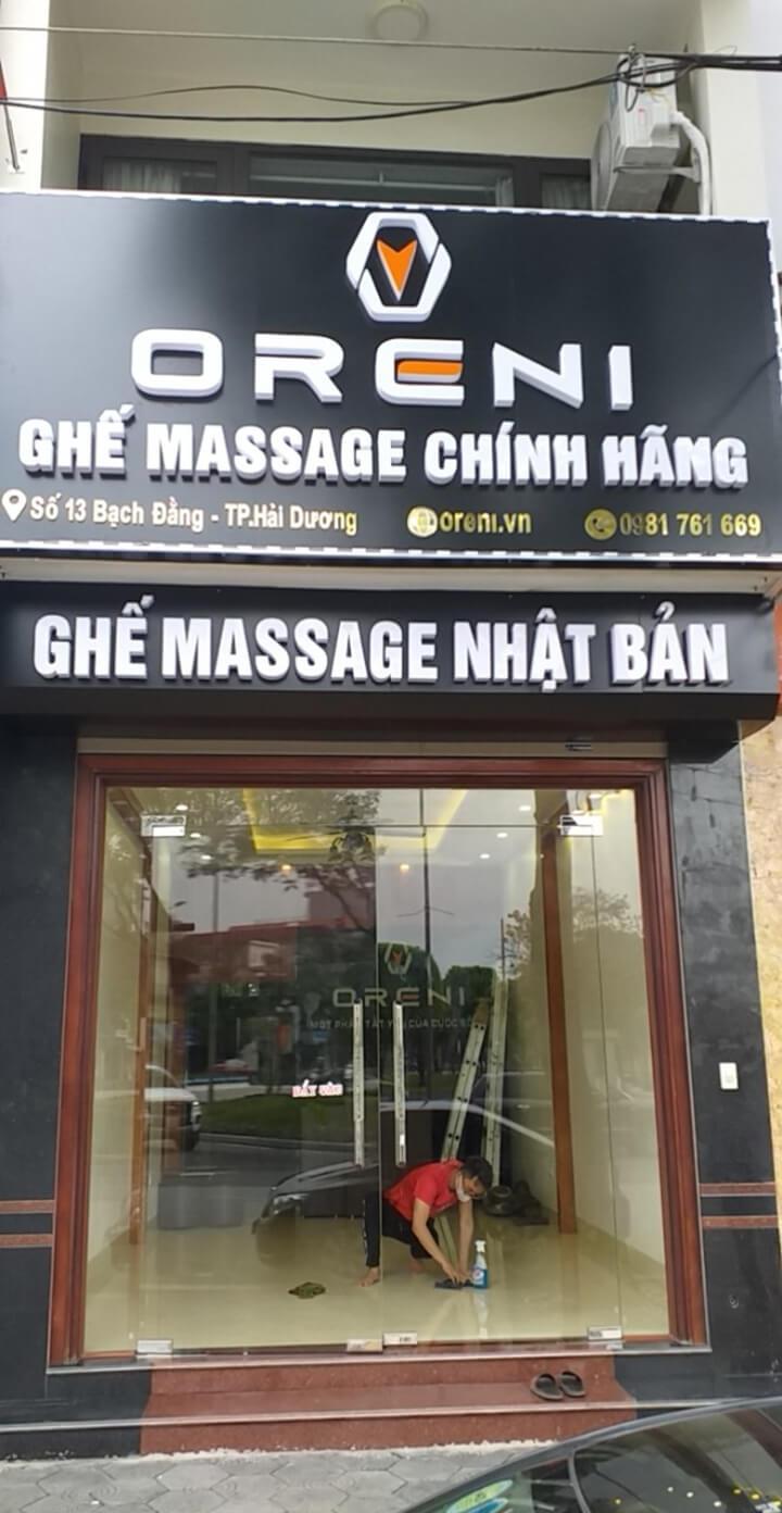 Hình ảnh showroom ghế massage Oreni Hải Dương