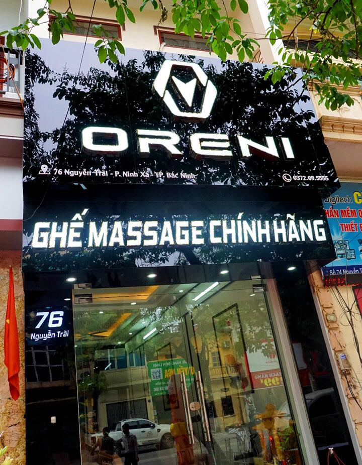 Địa chỉ bán ghế massage toàn thân chính hãng tại Bắc Ninh ở số 76 Nguyễn Trãi, P. Ninh Xá, TP. Bắc Ninh - Oreni Bắc Ninh