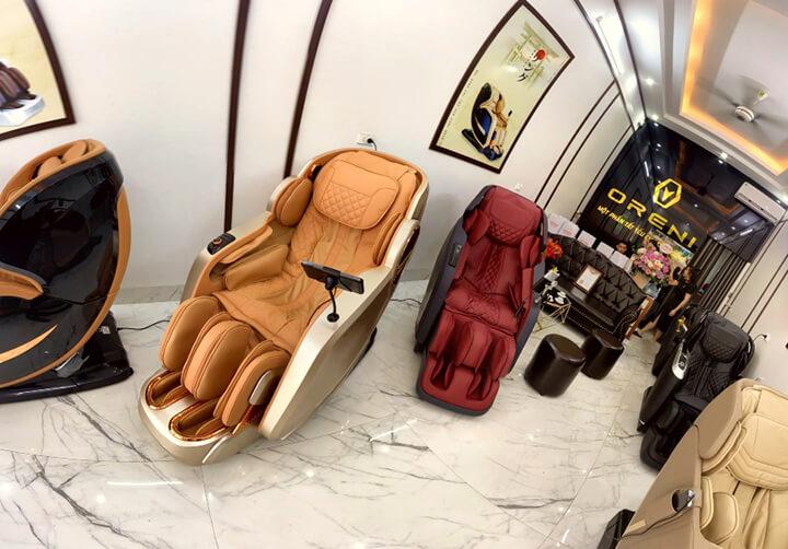 Một số hình ảnh ấn tượng về showroom ghế massage toàn thân chính hãng ở Bắc Ninh