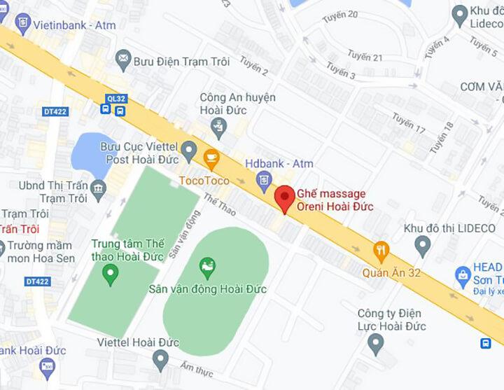 Địa chỉ showroom ghế massage Oreni Hoài Đức