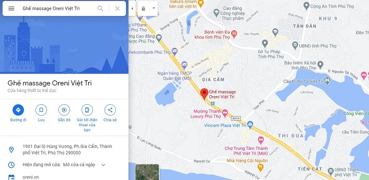 Địa chỉ showroom Oreni Phú Thọ