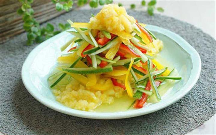 Món salad dứa tứ sắc thơm ngon, giúp giảm cân hiệu quả