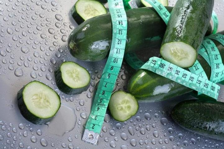Dưa chuột giàu chất xơ, hàm lượng calo thấp rất thích hợp để giảm cân