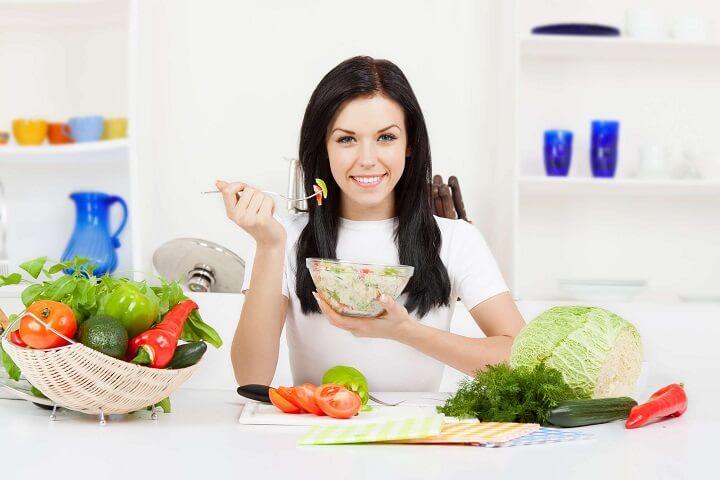 Chế độ ăn nhiều rau xanh là lý tưởng đối với một Fitnesser.