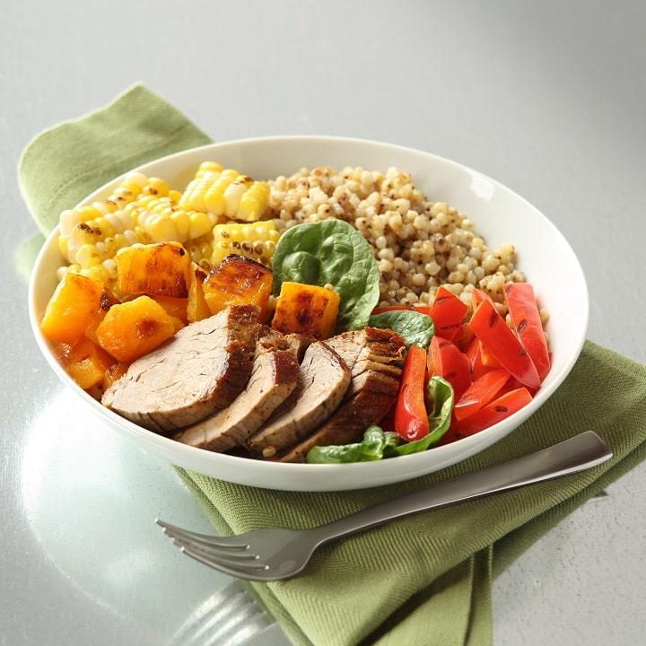 Cơm trộn gạo lứt giúp giảm béo hiệu quả